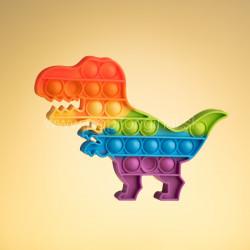 Pop It - t-rex duhový