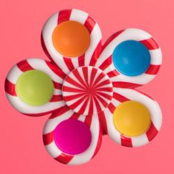 Fidget Spinner - červeno-biely